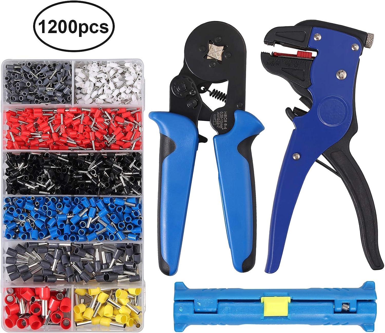 Crimper Plier Set Preciva 0.25-10mm² Self-adjustable Ratchet Wire Crimping To...