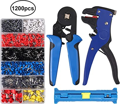 HSC8 6-4 23-7 AWG Bootlace Ferrule Terminal Crimping Tool Wire End Crimper Kit