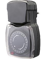 Chacon 54008 Programmateur mécanique étanche, Noir