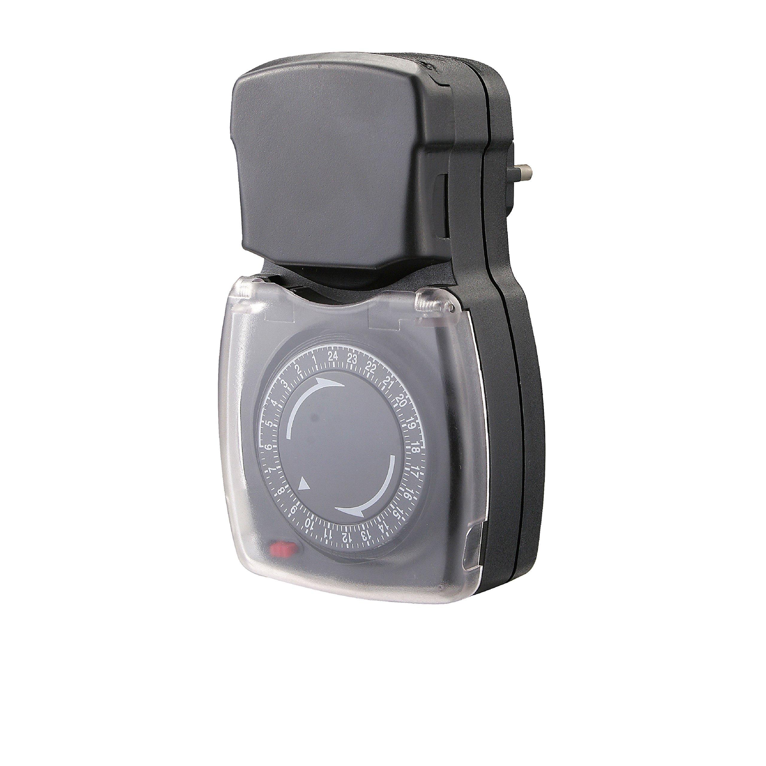 Chacon 54008 Programmateur mécanique étanche, Noir product image