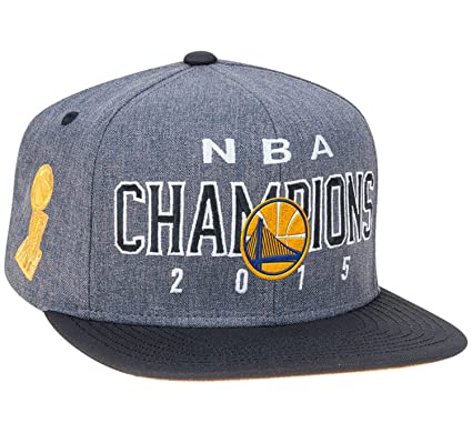 b7a4267c083ab adidas Golden State Warriors 2015 NBA Finals Champions Locker Room Gorra –  Gris Negro