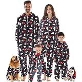 INFLATION Family Pajama Set Women Flannel Overalls Nightwear Onesie & Hood Xmas 6 Colors