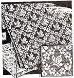 Filet Crochet Butterfly Square Alice Brooks Vintage Mail Order Pattern for Bedspreads Tablecloths Pillows Scarfs