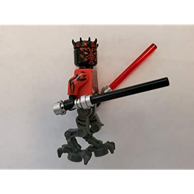 Star Wars Lego Darth Maul Cyborg with Dual Lightsabers: Toys & Games