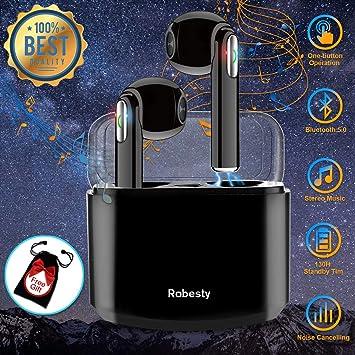 ... Cascos Bluetooth inalámbricos Mejores Auricular inalambrico Deportivos Estéreo Auriculares con microfono para iPhone Samsung Huawei: Amazon.es: ...