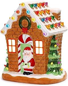 "Mr. Christmas Nostalgic Gingerbread House 12"" Christmas Décor, inch, Brown"