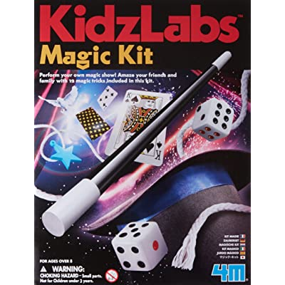 4M Kidzlabs Magic Kit - Learn DIY 12 Magician Tricks & Illusions Gifts for Kids, Boys & Girls: Toys & Games