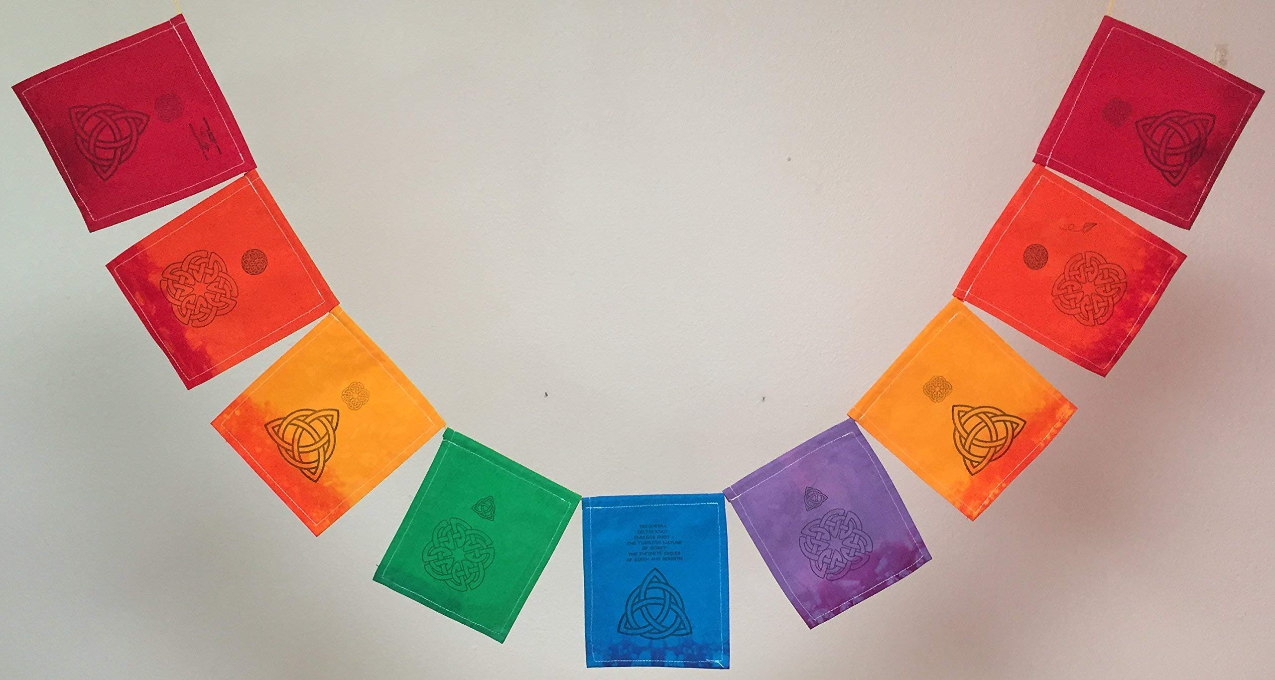Celtic Knot Prayer Flag. All proceeds to families in Mexico. Free domestic shipping.