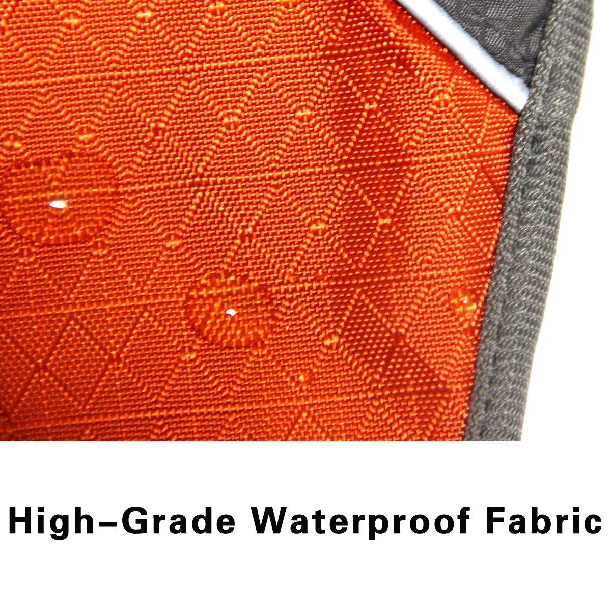 JoyDaog Premium Outdoor Sport Waterproof Raincoat Dog Jacket,Super Breathable Mesh Lined Dog Coats for Large Dogs, Orange XXXL by JoyDaog (Image #3)