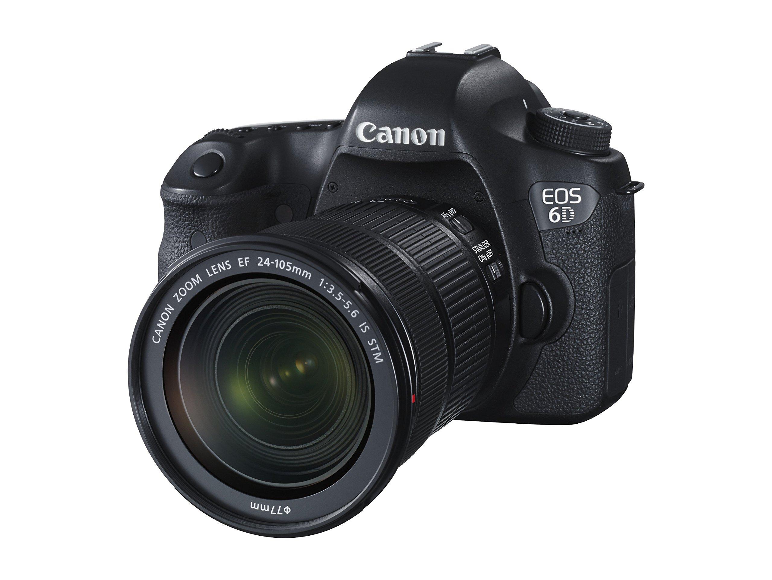 Canon EOS 6D Kit Fotocamera Reflex Digitale con Obiettivo EF 24-105 mm f/3.5-5.6 IS STM, 20 Megapixel, Nero/Antracite product image