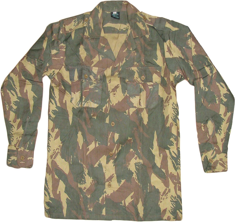 Camiseta militar portuguesa de algodón con diseño de campo de camuflaje camouflage S: Amazon.es: Ropa y accesorios