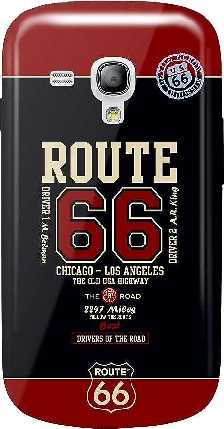 Amazon.com: Fonexion Route 66 Case for Samsung S3 Mini - Red ...