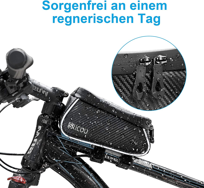 Slicoo Farhrradlenkertasche Fahrrad Rahmentaschen wasserdichte Tasche f/ür Handyhalterung mit Touchscreen Fahrrad Rahmentaschen f/ür iPhone 11 X Xs 6 6s 7 8 Plus//Samsung Galaxy S8 S9 S10