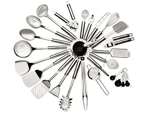 Amazon Com 29 Piece Stainless Steel Kitchen Utensils Set