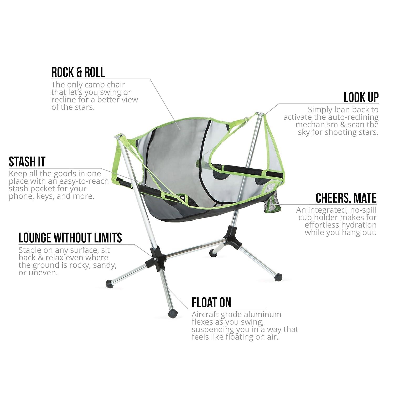amazon com nemo stargaze recliner lite camping chair birch leaf