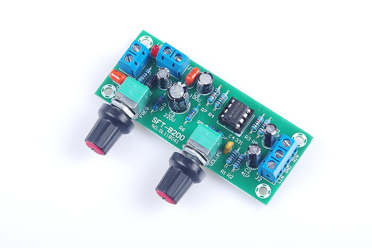 Knacro Dc 10v 24v Low Pass Filter Ne5532 Bass Tone Lowpass Subwoofer Frequency Circuit Board Opamp Chip Pre Amplifier Preamp Musical Instruments