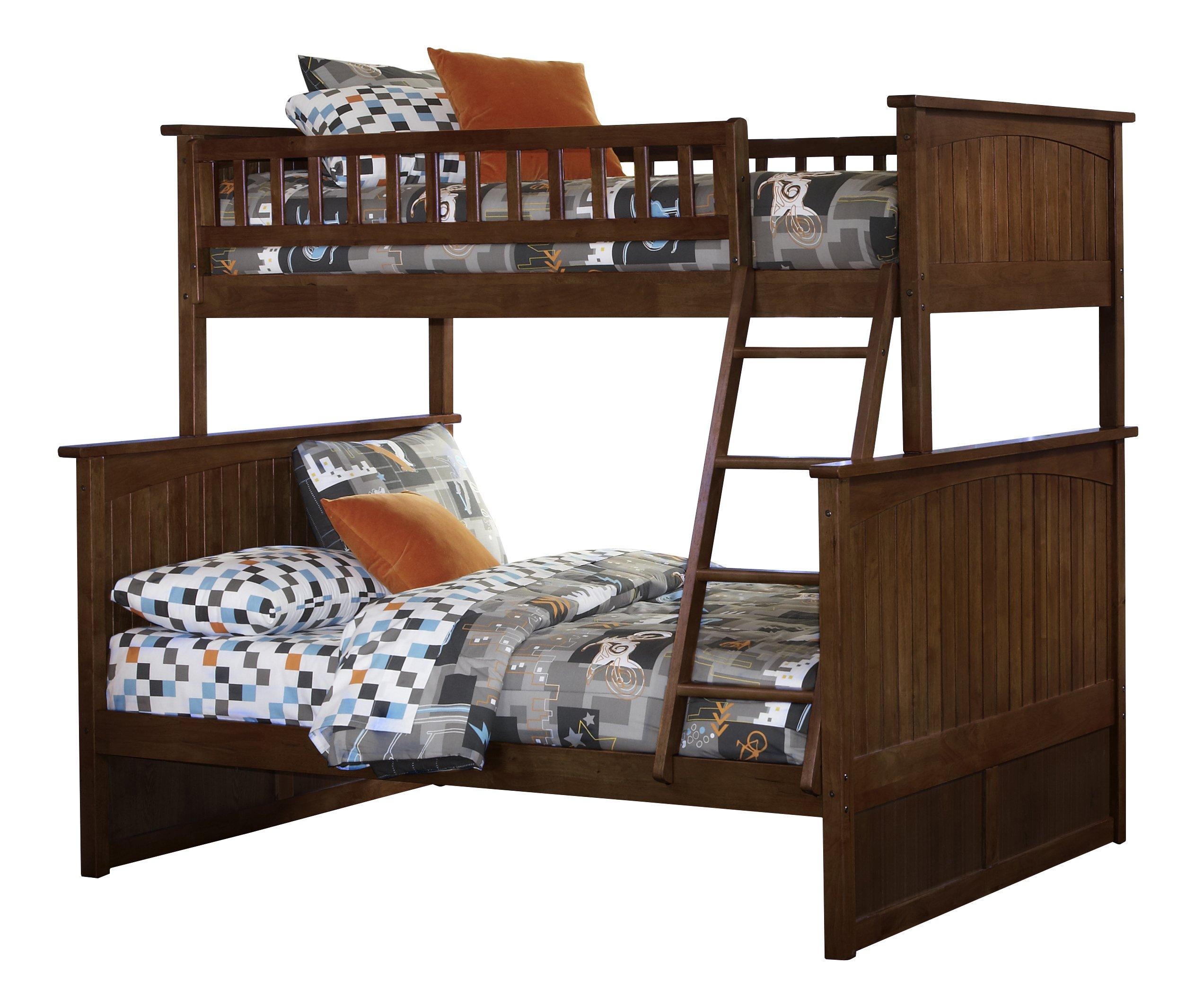 Nantucket Bunk Bed, Twin Over Full, Antique Walnut