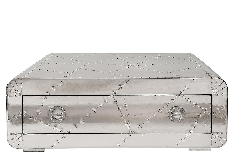 SIT-Möbel 1783-21 Couchtisch Airman, 1 Schublade, Metallauszug mit Zierschrauben versehen, circa 120 x 80 x 40 cm