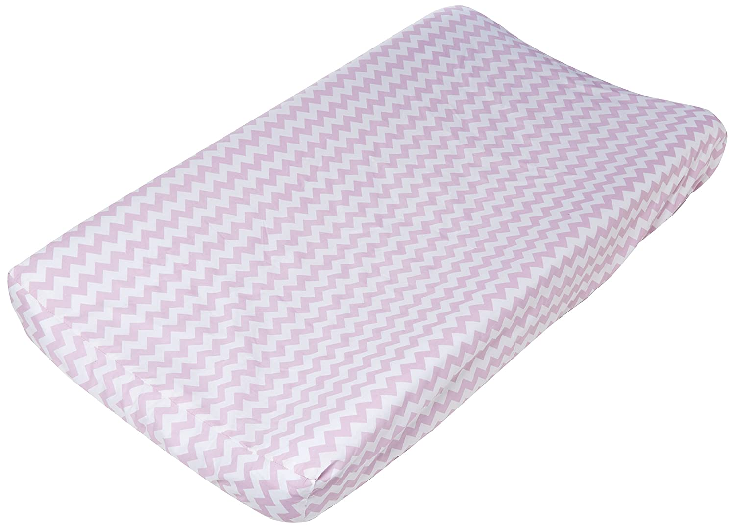Trend Lab Orchid Bloom Chevron Changing Pad Cover, Purple 101750
