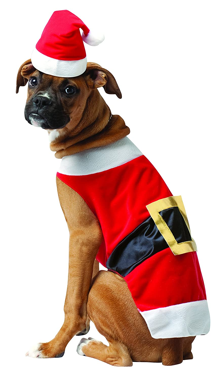 Amazon.com : Rasta Imposta Santa Dog Costume, X-Large : Pet Costumes ...