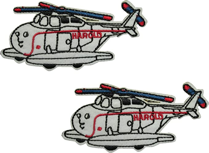 Airplane Iron Sew on Embroidered Patch Motif Craft Mend Cover Kids CFM2\062X