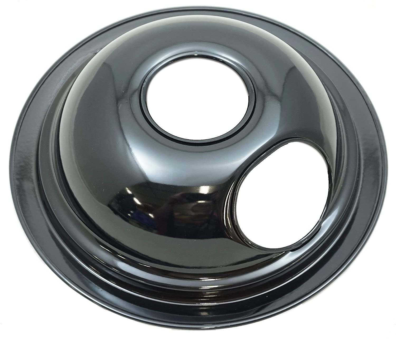 "Black Porcelain Drip Bowl 4 Pk for Whirlpool, 1 8/"" W10290350 3 6/"" W10290353,"