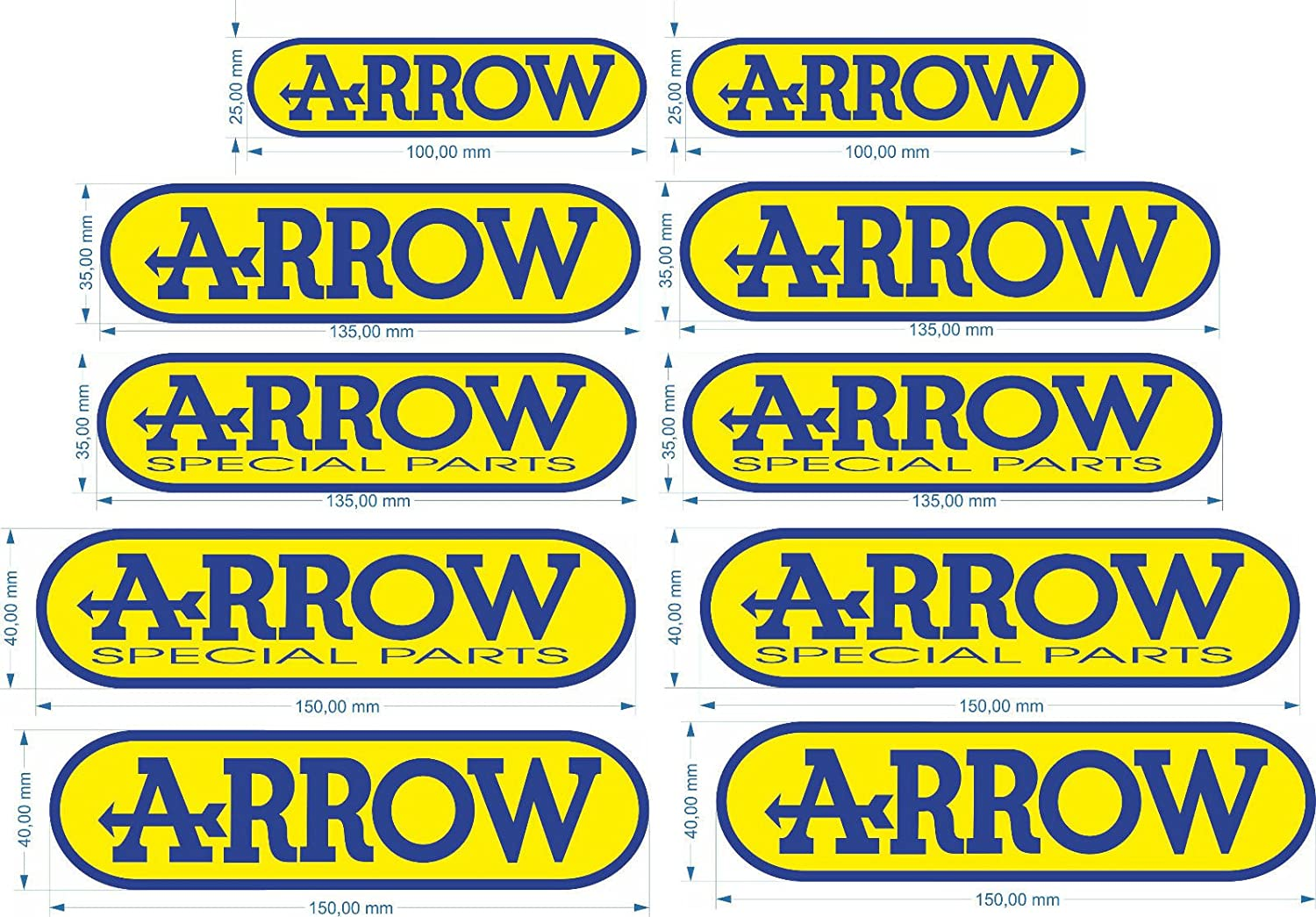 Adhesivo Pegatina Adhesivo Sticker 2 pegatinas Arrow Special Parts ...