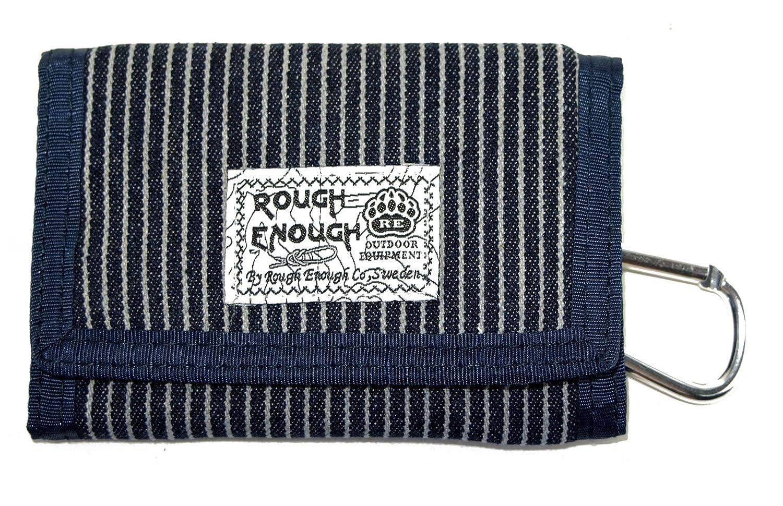 Rough Enough Vintage Denim Blue Stripes Mini Canvas Wallet ROUGH ENOUGH INC. RE8300