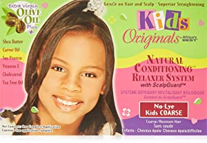 Africa's Best Kids Organics No-lye Conditioning Relaxer System with Scalpguard for Coarse/Resistant Hair