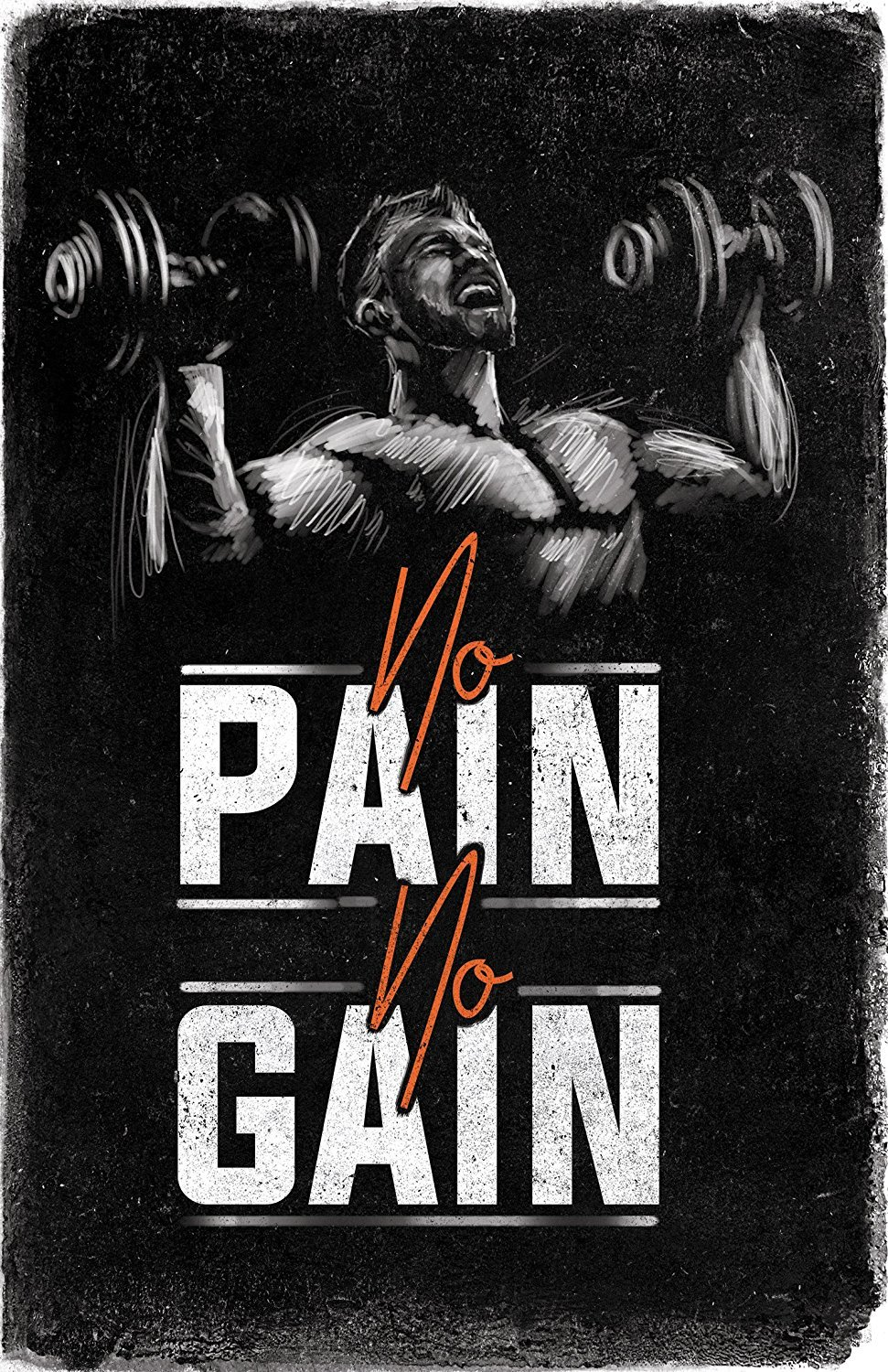 Bodybuilding Motivational Fitness Posters Set Of Four Wall Art