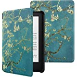 MoKo Case Fits All-New Kindle (10th Generation - 2019 Release Only), Ultra Lightweight Shell Cover with Auto Wake/Sleep, Will Not Fit Kindle Paperwhite 10th Generation 2018 - Almond Blossom