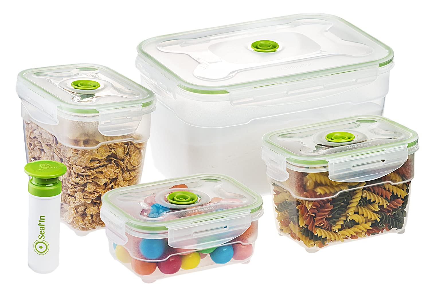 Exceptionnel Amazon.com: Sealu0027In Nestable Food Storage Vacuum Containers   Set Of 4    Vacuum Sealed, Microwavable And Dishwasher Safe: Kitchen U0026 Dining