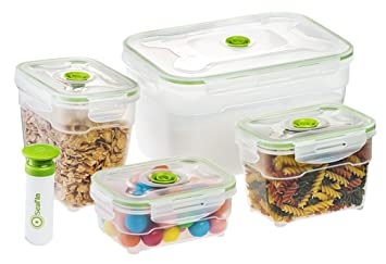 Captivating Sealu0027In Nestable Food Storage Vacuum Containers   Set Of 4   Vacuum Sealed,