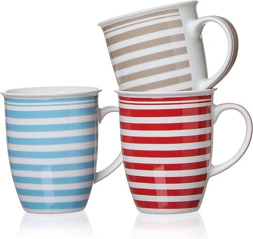 Ritzenhoff & Breker Modern Stripes Becher, 3er Set