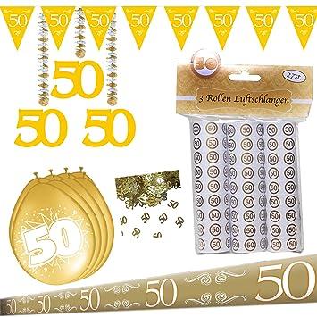 Rotor Spiralen 50 Goldhochzeit Goldene Hochzeit Dekoration
