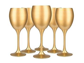 Weingläser Rot 6 weingläser sichtscheiben gold weinglas rot weißweinglas glas zu