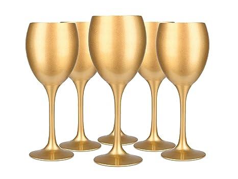 Sables Reflets 6 Bicchieri Da Vino Dye Oro Vetro A Vino Rosso