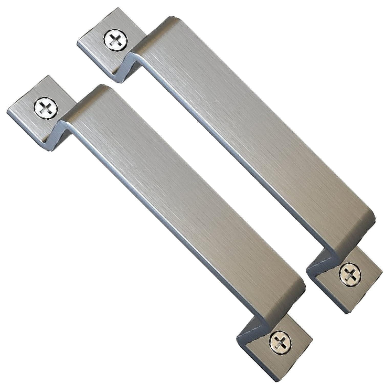 Sliding Barn Door Handle Pull Set | Black Steel or Stainless Steel | Screws Included