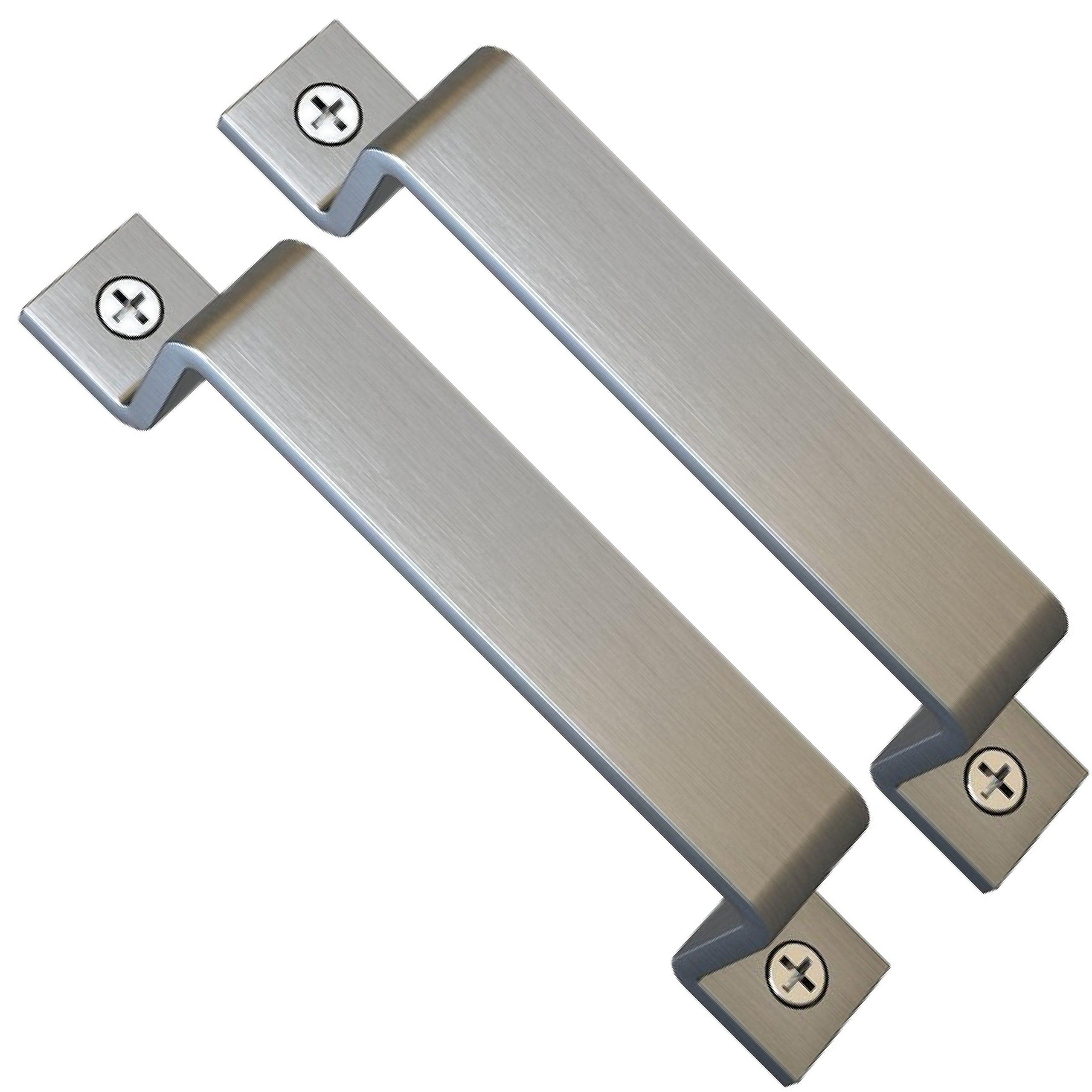 Sliding Barn Door Handle Pull Set   Black Steel or Stainless Steel   Screws Included