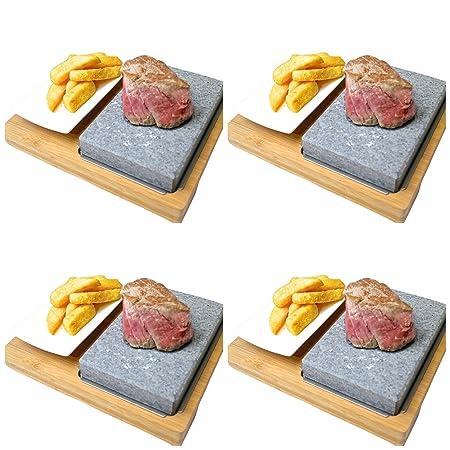 Black Rock Grill Lava Stone Steak Sets, SET OF 4