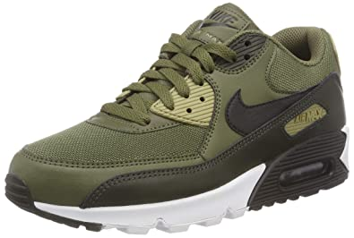 new styles 6edb0 6108b Nike Mens Air Max 90 Essential Gymnastics Shoes, Green (Medium OliveBlack