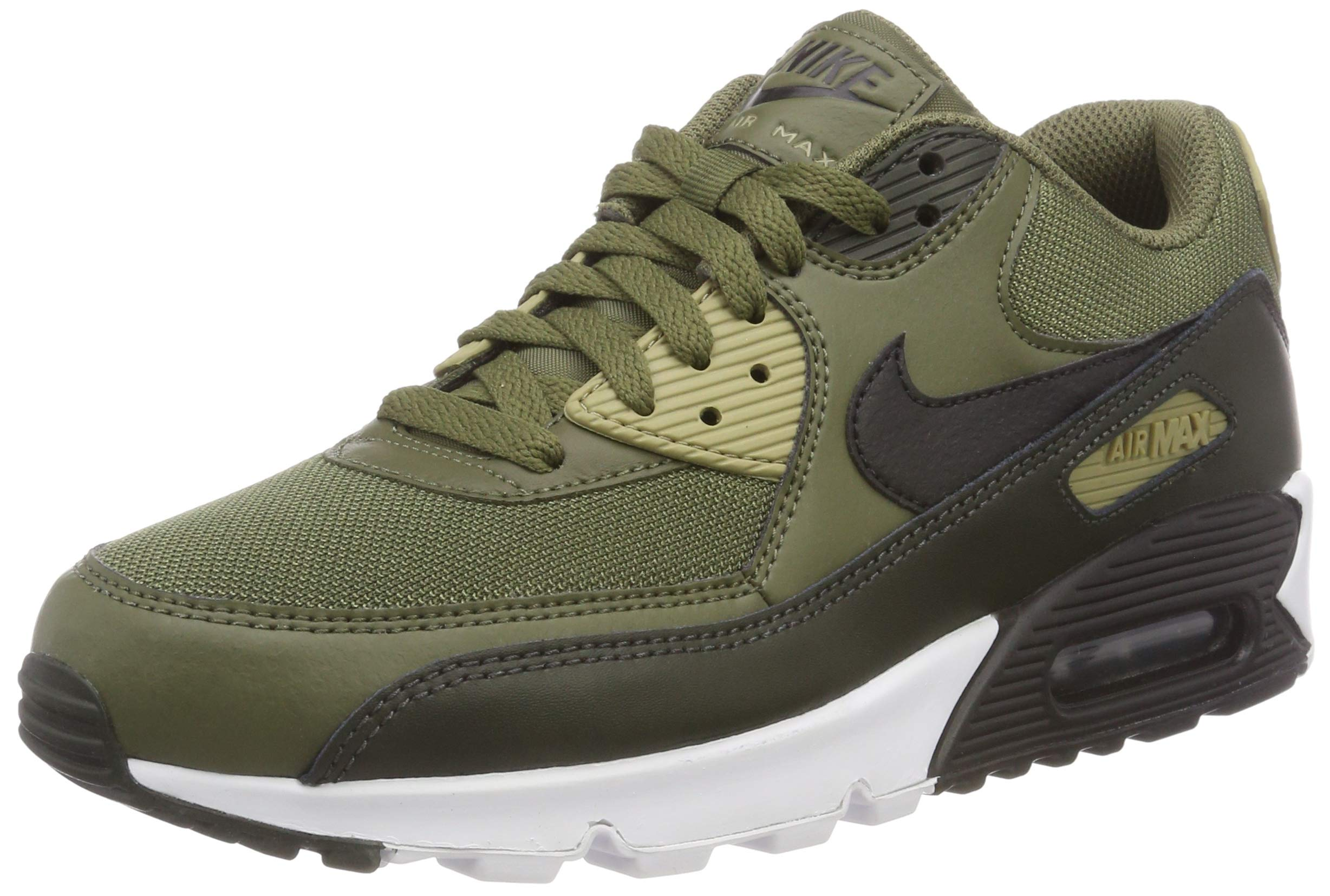 detailed look 3772f ce4ef Nike Mens Air Max 90 Essential Running Shoes Medium Olive/Black/Sequoia  AJ1285-201 Size 9