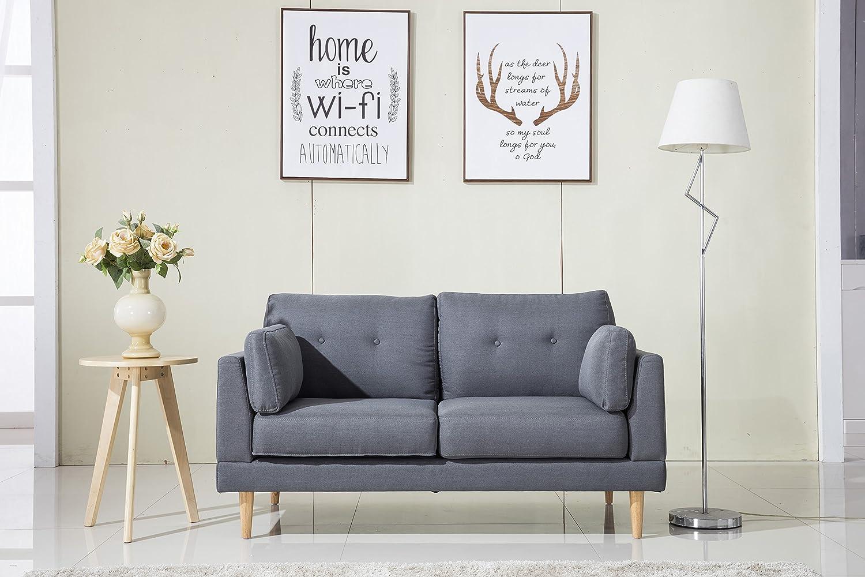 Amazon.com: Divano Roma Furniture Mid Century Modern Ultra Plush ...