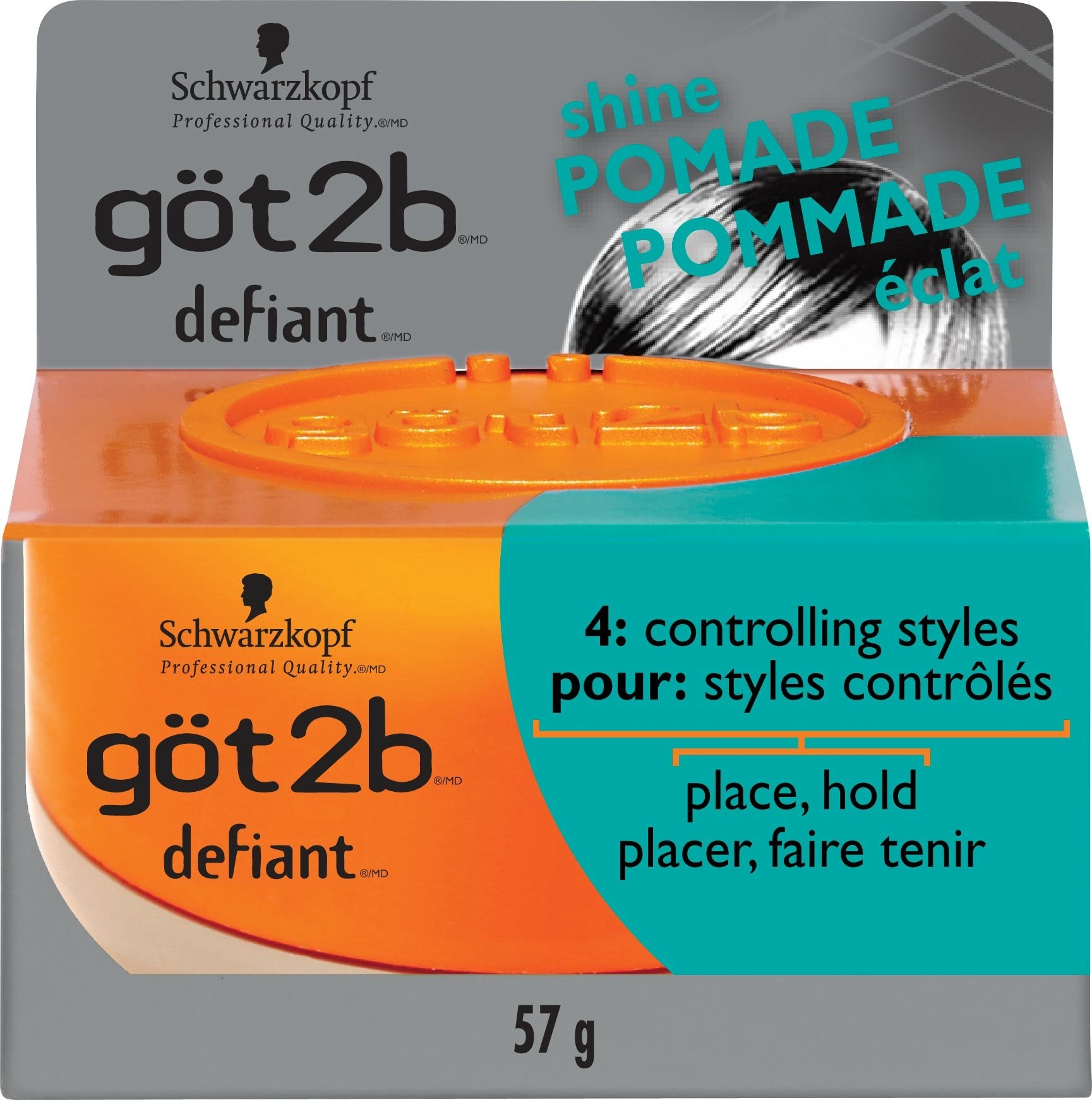 got2b Defiant Define & Shine Pomade-2 oz