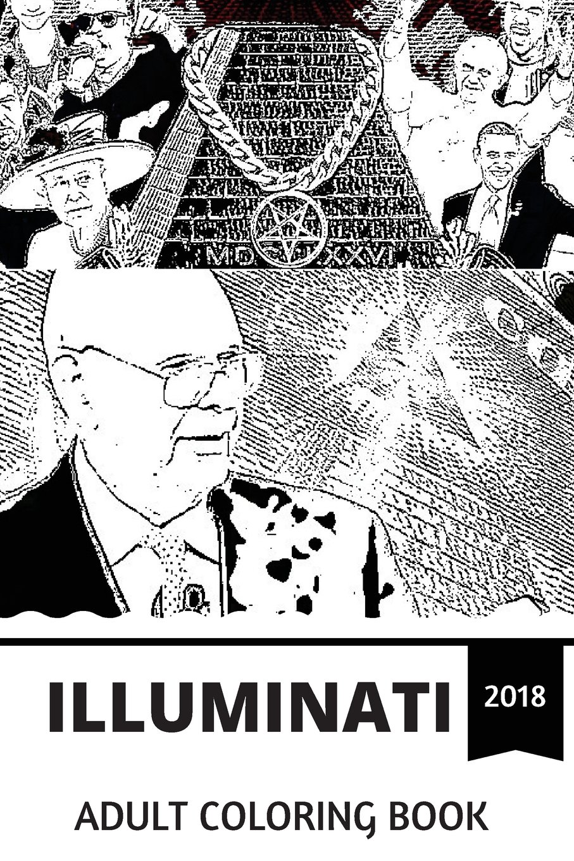 Illuminati Adult Coloring Book Dark Secret Society That