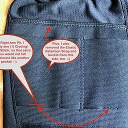 0604ce35a7dcf Amazon.com  Customer reviews  Men s Concealment Coolux V-Neck Shirt ...