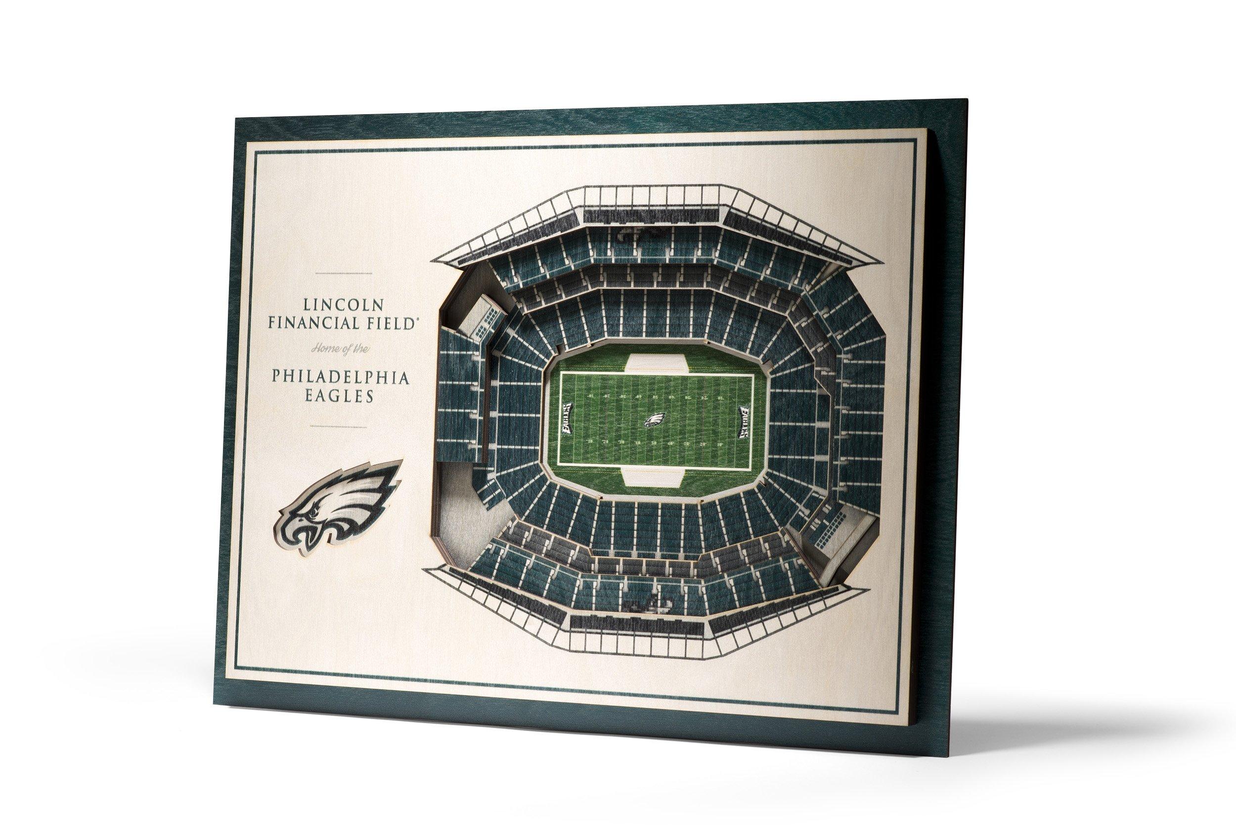 NFL Philadelphia Eagles 5-Layer Stadiumviews 3D Wall Art by YouTheFan