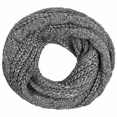 Echarpe Tube Kopervik Lierys echarpe tour de cou echarpe en tricot (taille  unique - anthracite 56e8cc05201