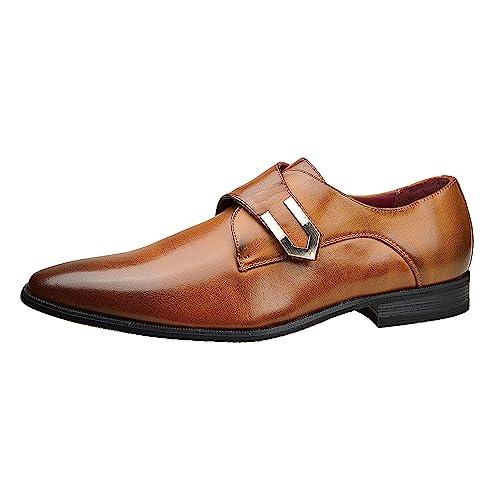 Para Hombres De Cordones Casual Boda Zapatos De Oficina Italian Vestido Trabajo Casual Formal Talla UK - Granate, 8 UK / 42 EU