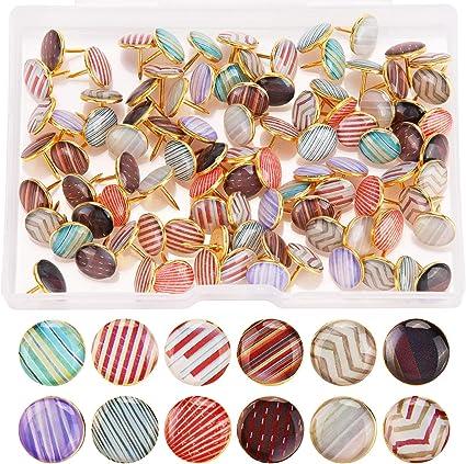 Colore 2 25 Pezzi Zampa Stampa Puntina da Disegno Animale Zampa Pollice Puntine Decorative per Tavola Sughero Casa e Ufficio